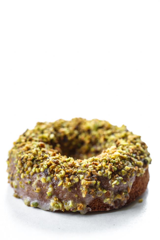 Lemon Pistachio Donuts | edibleperspective.com