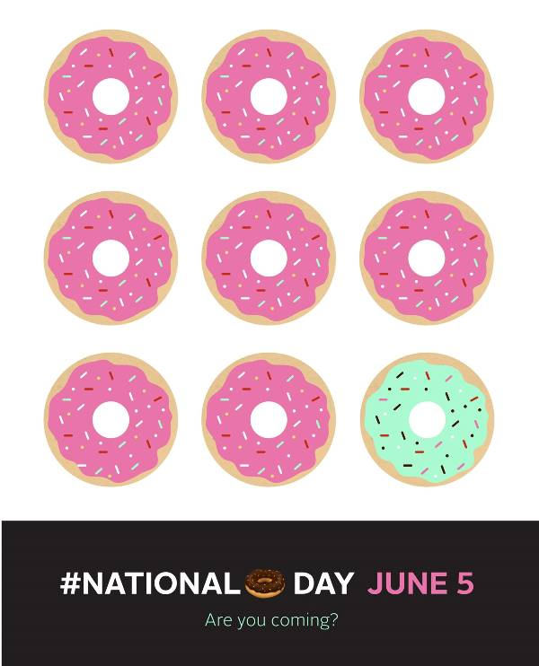 National Donut Day | graphics by: Melissa at, The FauxMartha