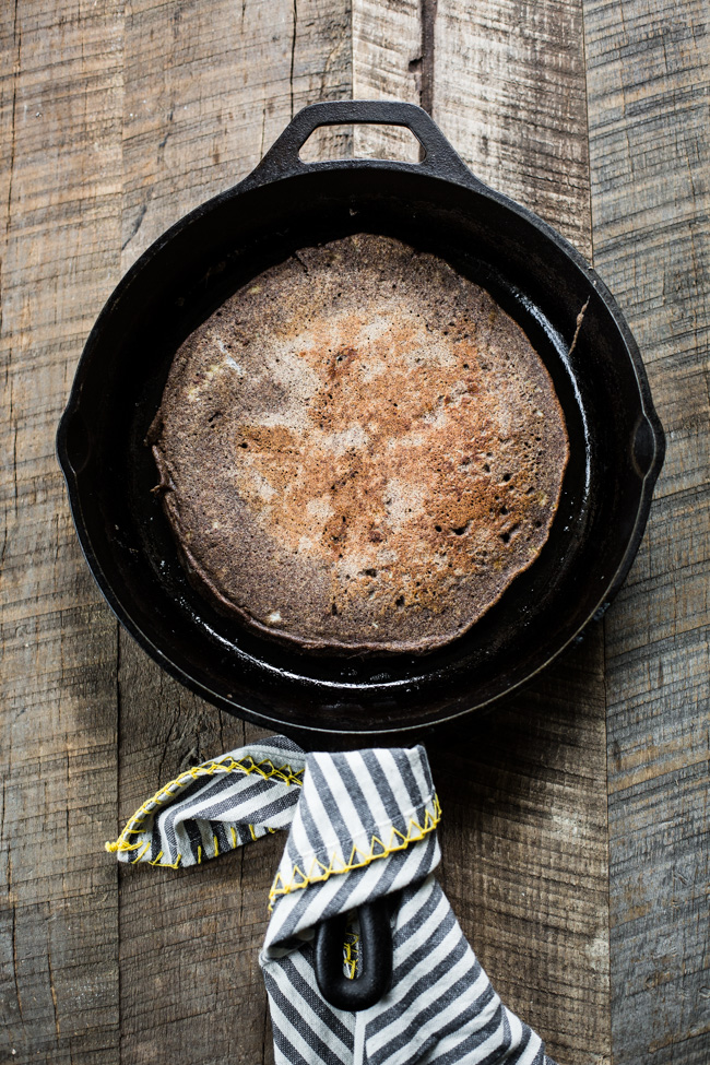Giant Buckwheat Pancake weekday recipe | edibleperspective.com