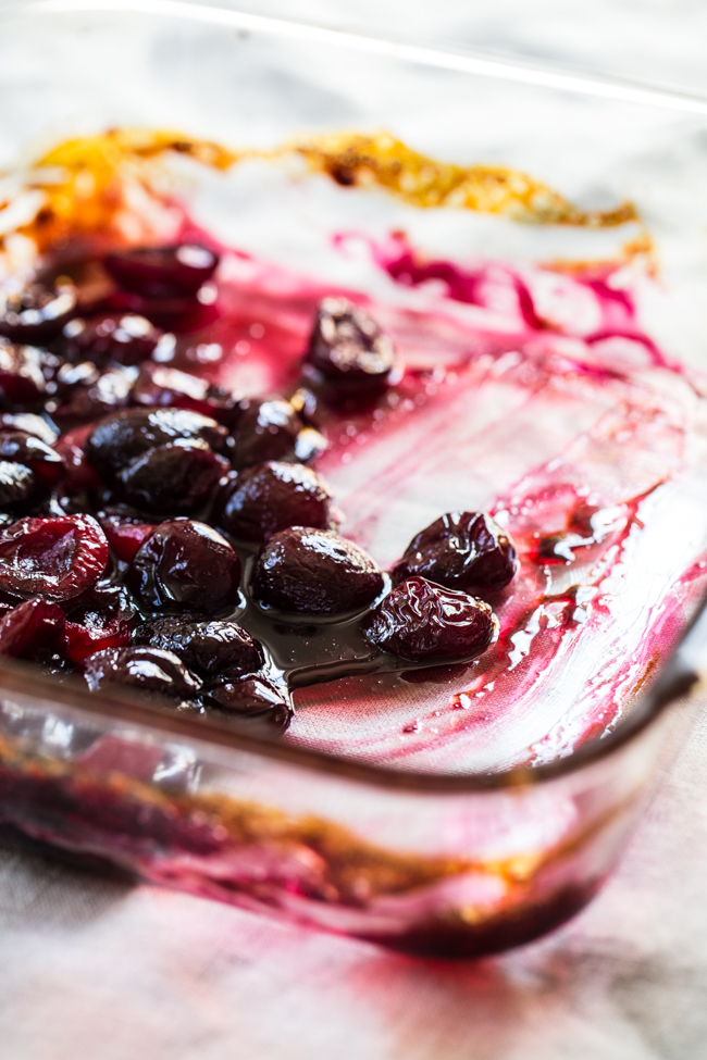 Roasted Cherries for Roasted Cherry Lavender Ice Cream | Edible Perspective
