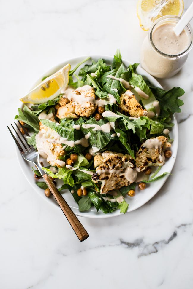 Chipotle Vegan Caesar Salad | Edible Perspective