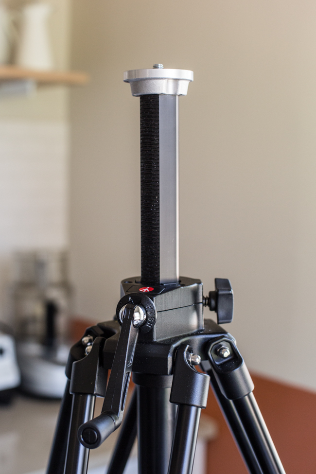 tripod with geared center column | Edible Perspective