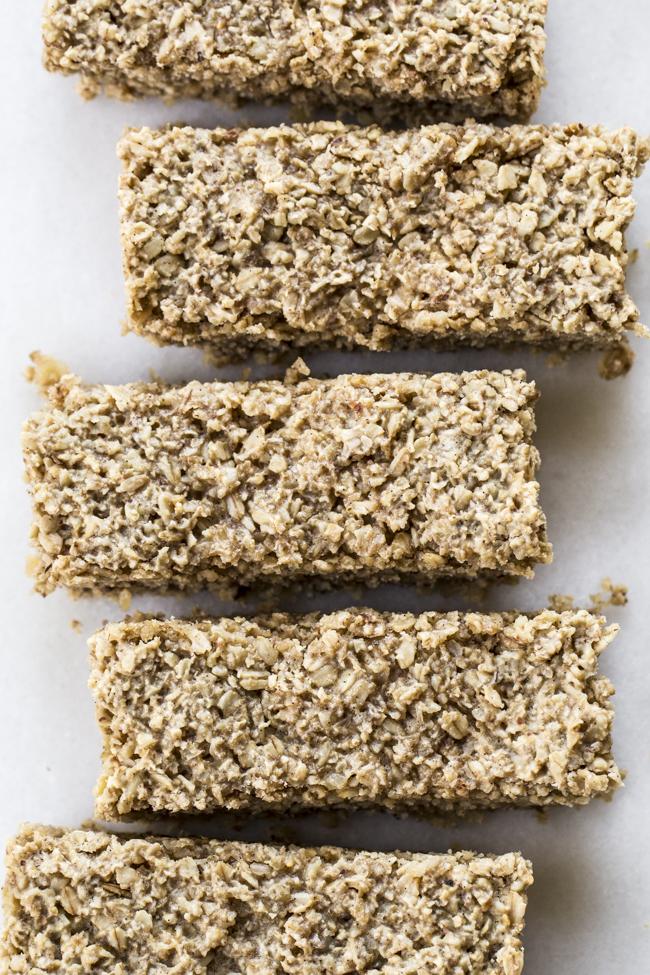Soft Batch Maple Vanilla Oatmeal Bars | edibleperspective.com
