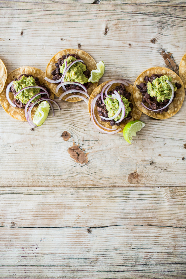 Easy Black Bean Vegan Street Tacos | edibleperspective.com