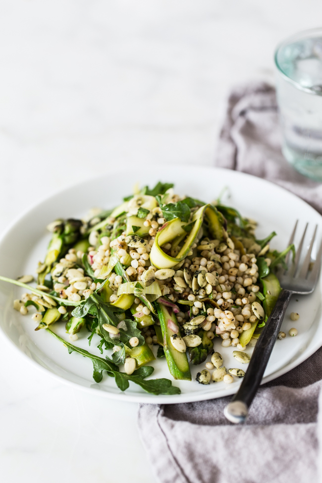 Spring Sorghum and Asparagus Salad | edibleperspective.com