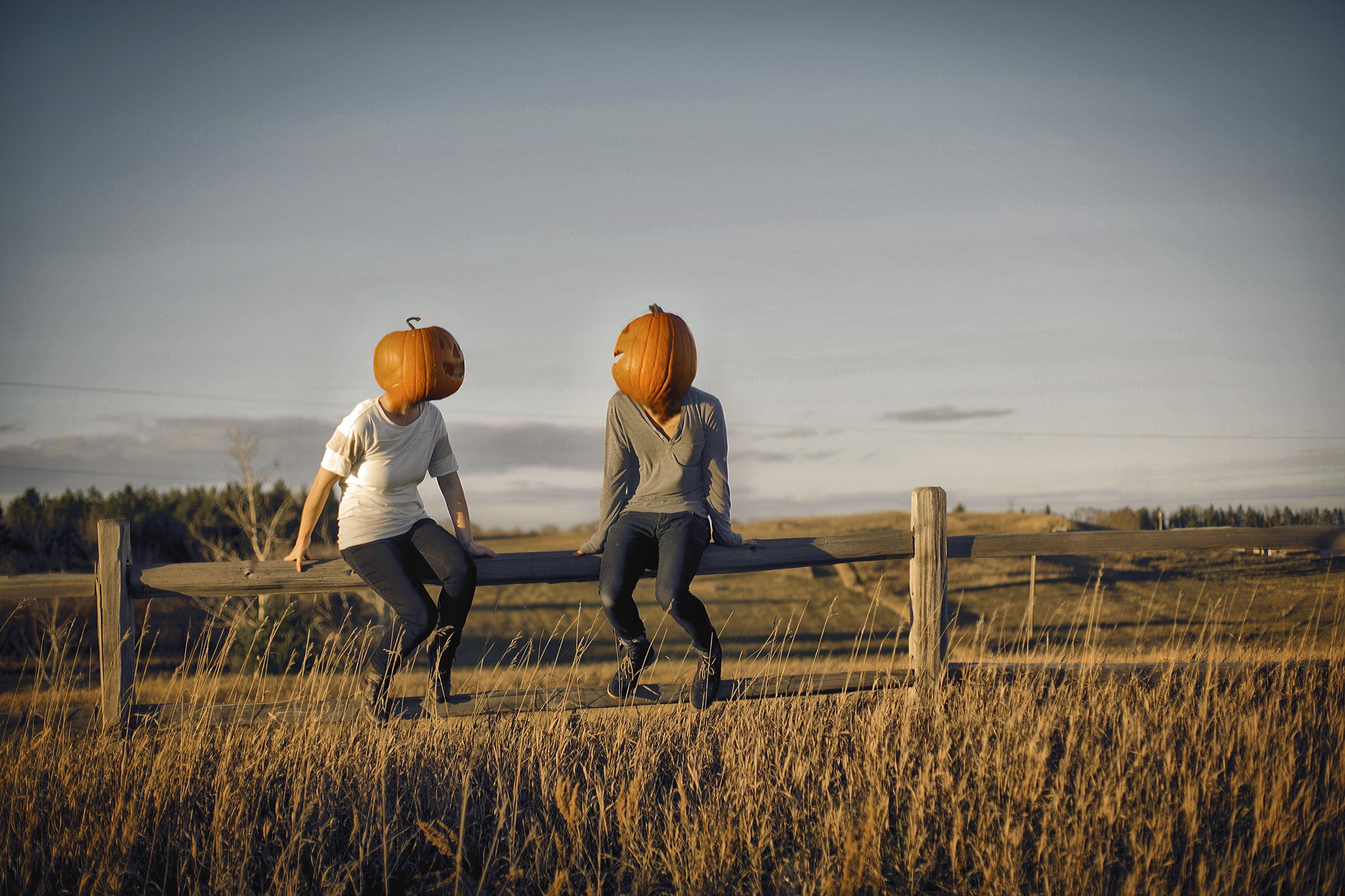 A Casual Conversation Amongst the Pumpkin Heads.