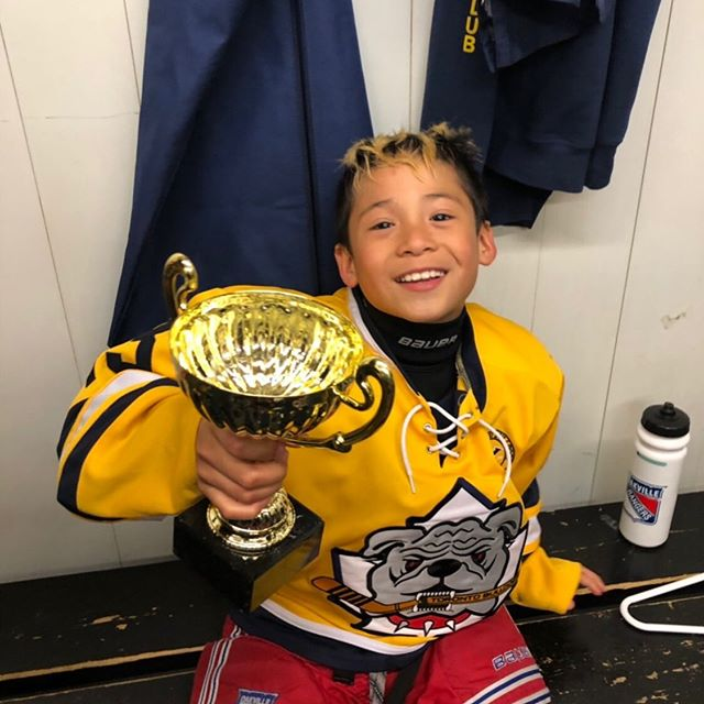 He's got some serious pep in his step and loves to wheel and deal! Our Player of the Month.... https://bit.ly/2Rr2xDM #oakvillerangers #oakville #hockey #hockeyskills