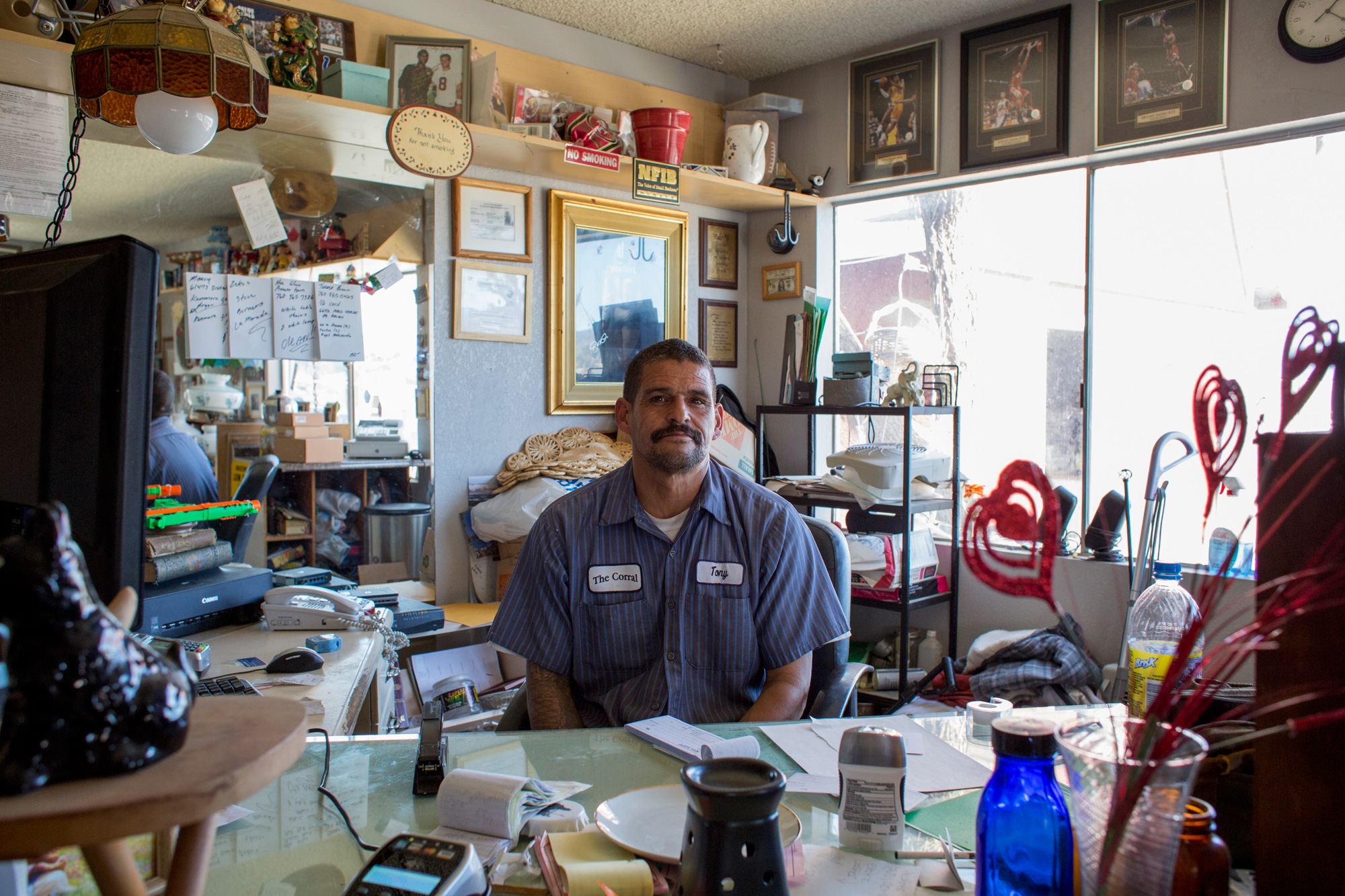 Tony in his office at The Corral