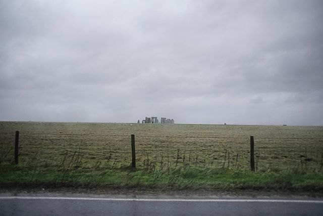 This is what Stonehenge looks like from the road when @timothyrobins won't stop the car because he's a selfish big git. #England