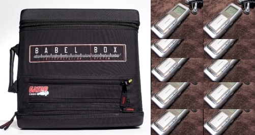 The Babel Box language interpretation system, 1 receiver + 10 headsets (basic package)