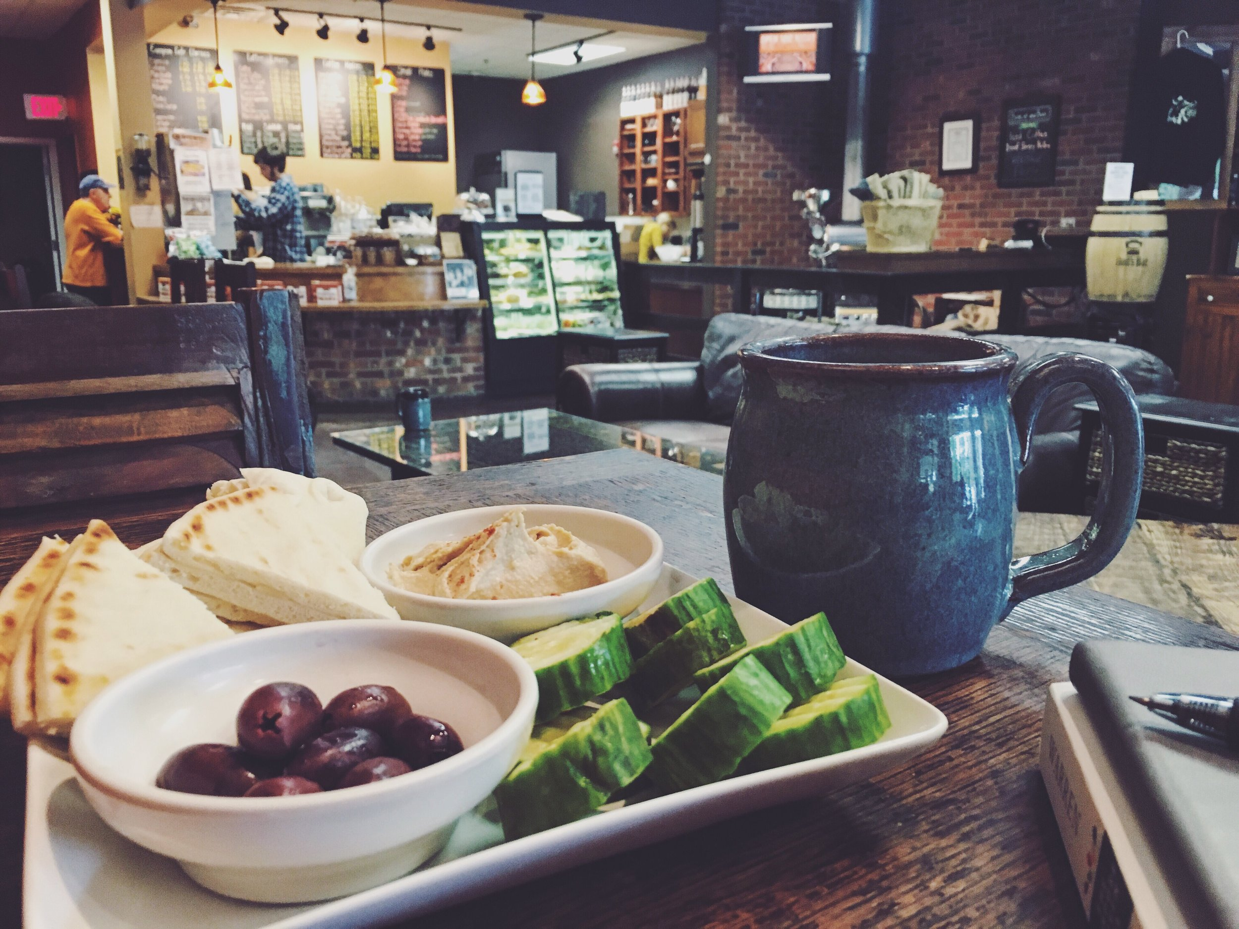 My favorite snack and tea place, Burlap & Bean in Newtown Square.