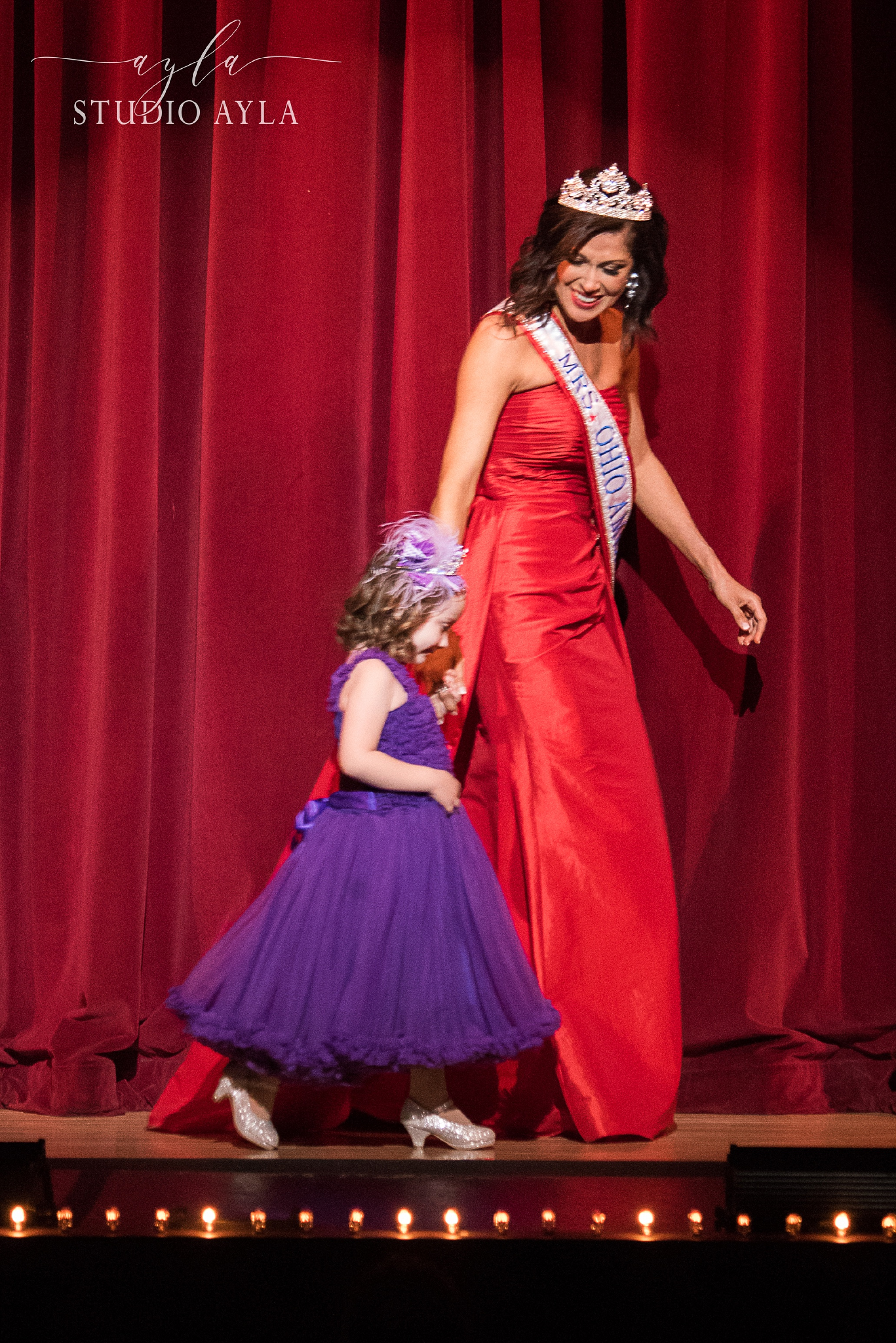 Mrs. Ohio 2016, Heather Fronk, with a special guest. As Ohio wives and mothers, we strive to make little girls across the state feel like the special princesses that they are.