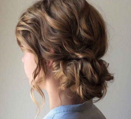Soft Elegant, romantic updo with wave curls,  Style by Master Stylist Kelly, at GS Blow Dry Bar - 10019 Midtown, 57th Street.PNG