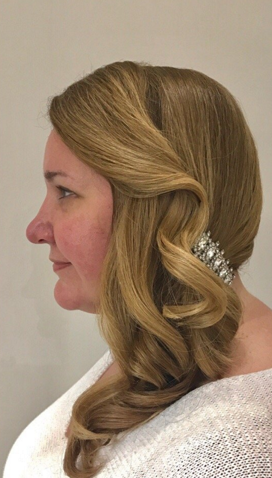 Side Swept Updo by Master Stylist Kelly, at GS Blow Dry Bar - 10019 Midtown, 57th Street.PNG