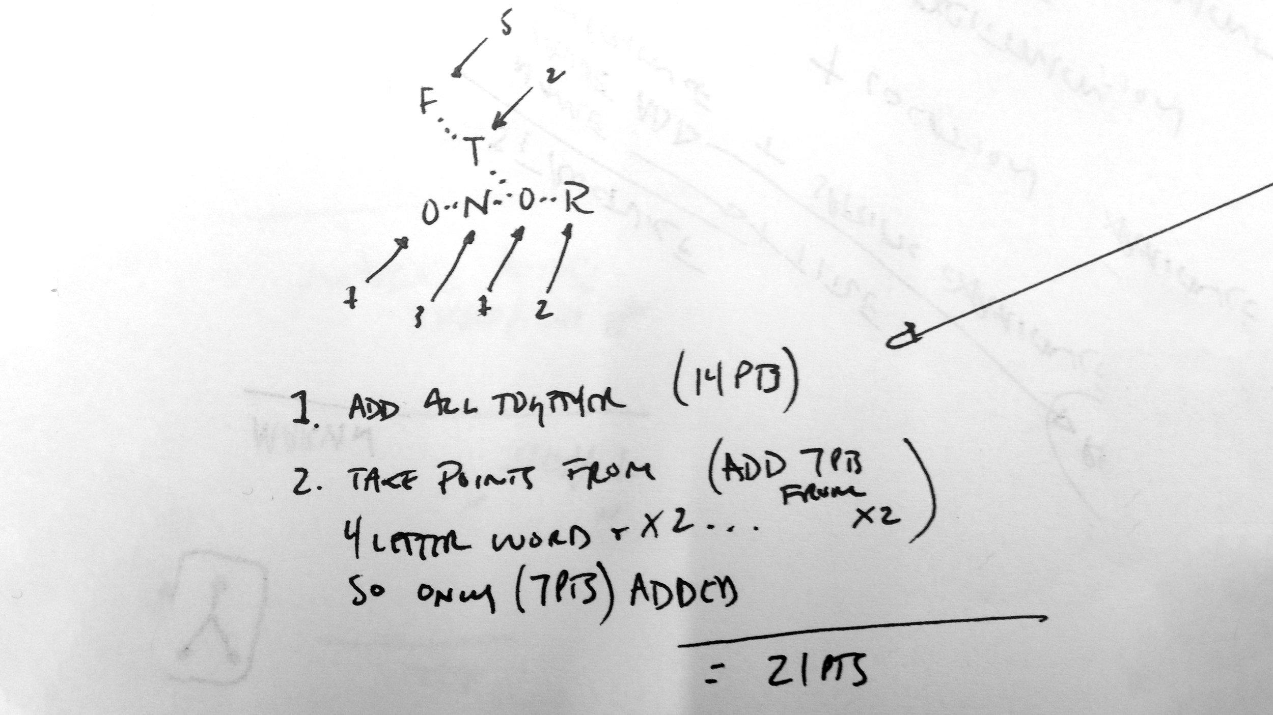 Initial efforts at understanding scoring