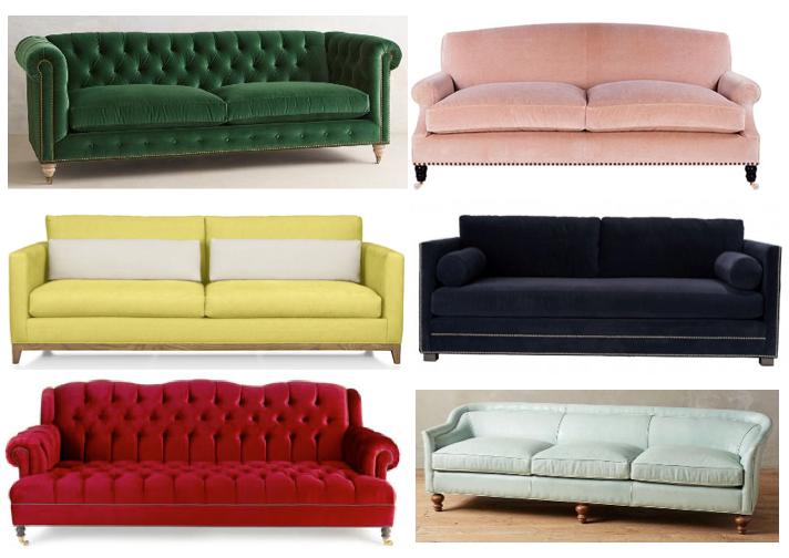 Colored Sofas | Sarah Catherine Design