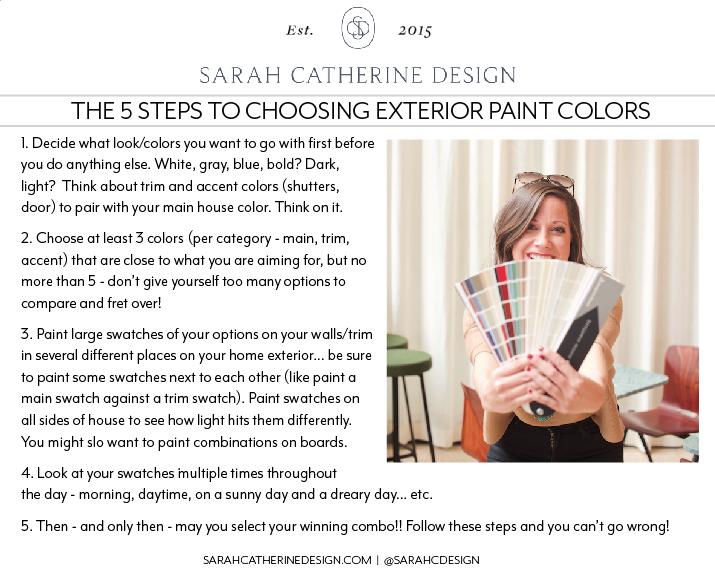 Exterior Finishes 101 | Sarah Catherine Design