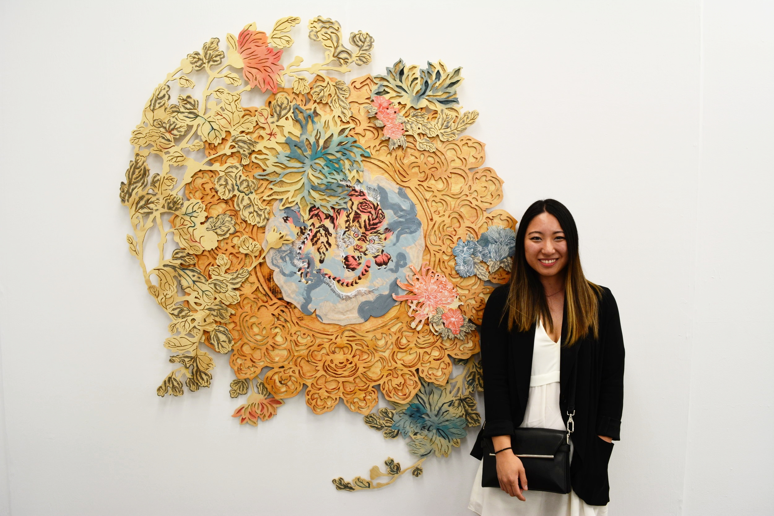 "Rachel Wada   Uncultured, 2016  silkscreen on wood panel 152.4""x 155"" x 2"""