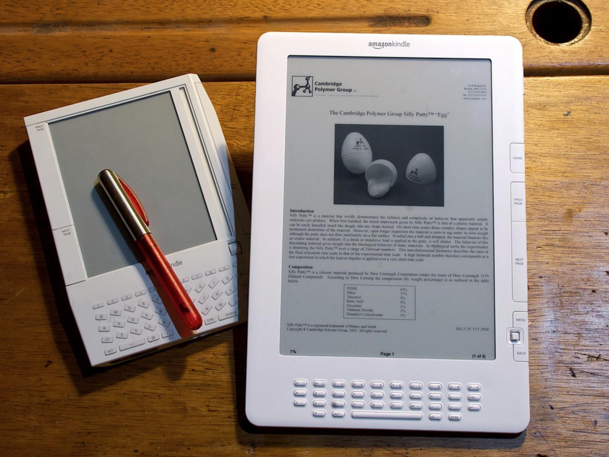 Amazon Kindle. Photo: Andy Ihnatko via Flickr.