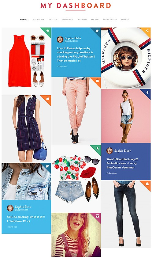 """aking communication and interaction with users personal, creating contents and a user community, and creating a special tool for the mobile app,to """"hunt for garments""""."""