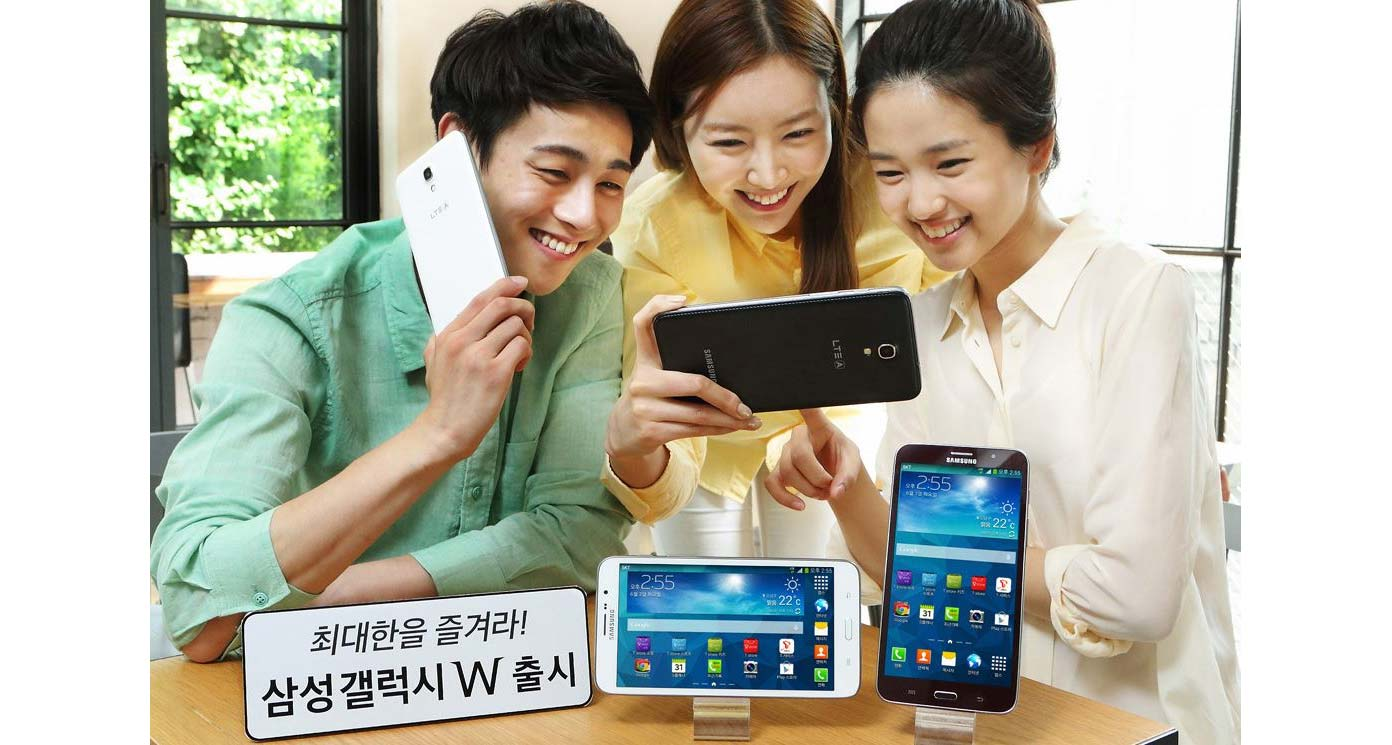 """Samsung's 7"""" Galaxy W and similar jumbo devices blur the line between phone and tablet. Photograph courtesy   Samsung  ."""