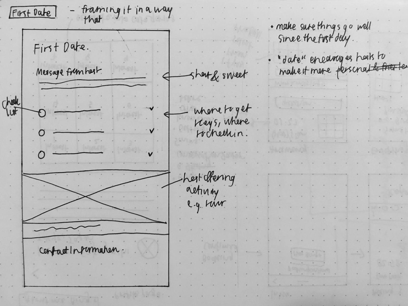 Digital Gift Exchange Concept Low-Fidelity Sketch