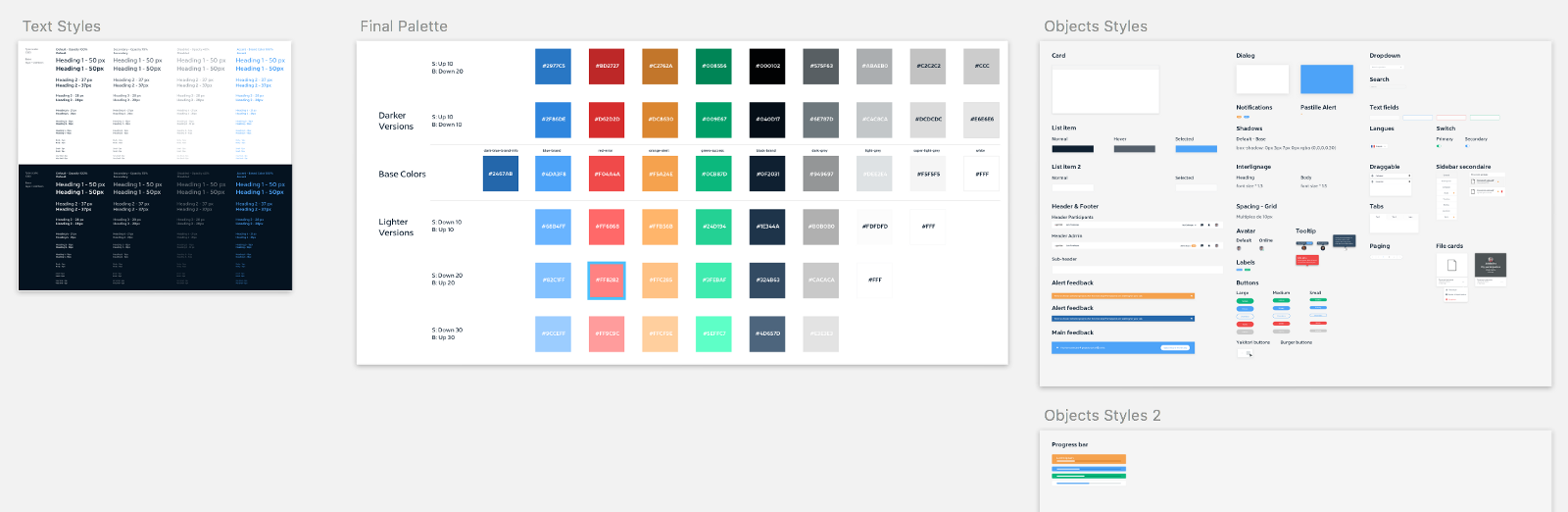 Our first design styleguide