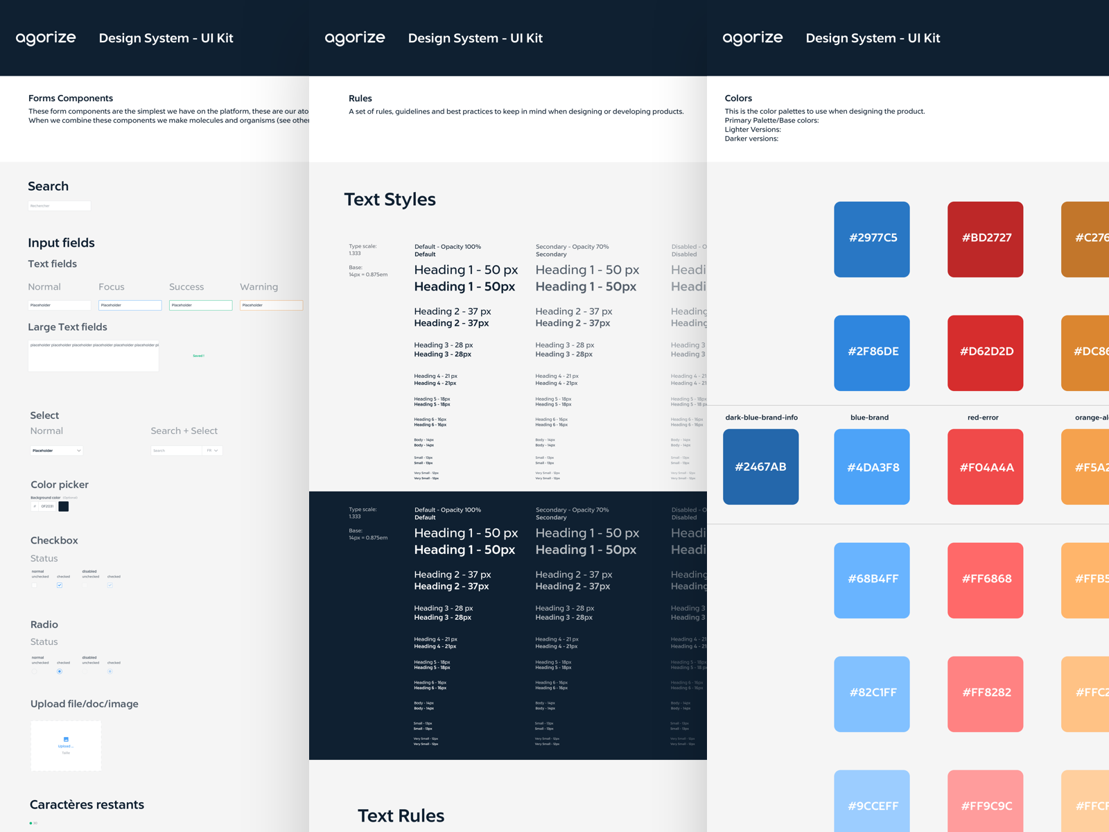 Preview of Agorize Design System