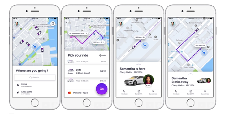 Lyft's designers constantly refine experience around core objectives. Features like seeing drivers that are nearby and your cost up front make it easier for a user to order a ride. Image credited to TechCrunch.