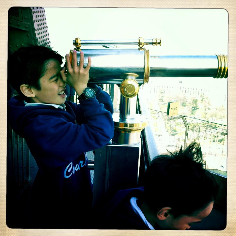 Nathan just loving the view. He says he could see the Arc de Triomphe.