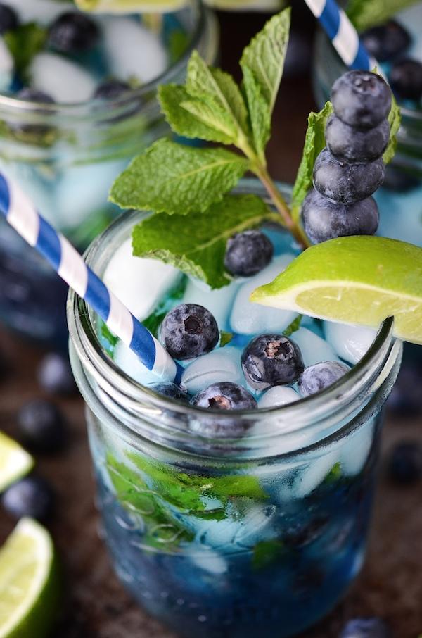 Photo credit: The Novice Chef . Click  here  for a yummy Blueberry Mojito recipe.