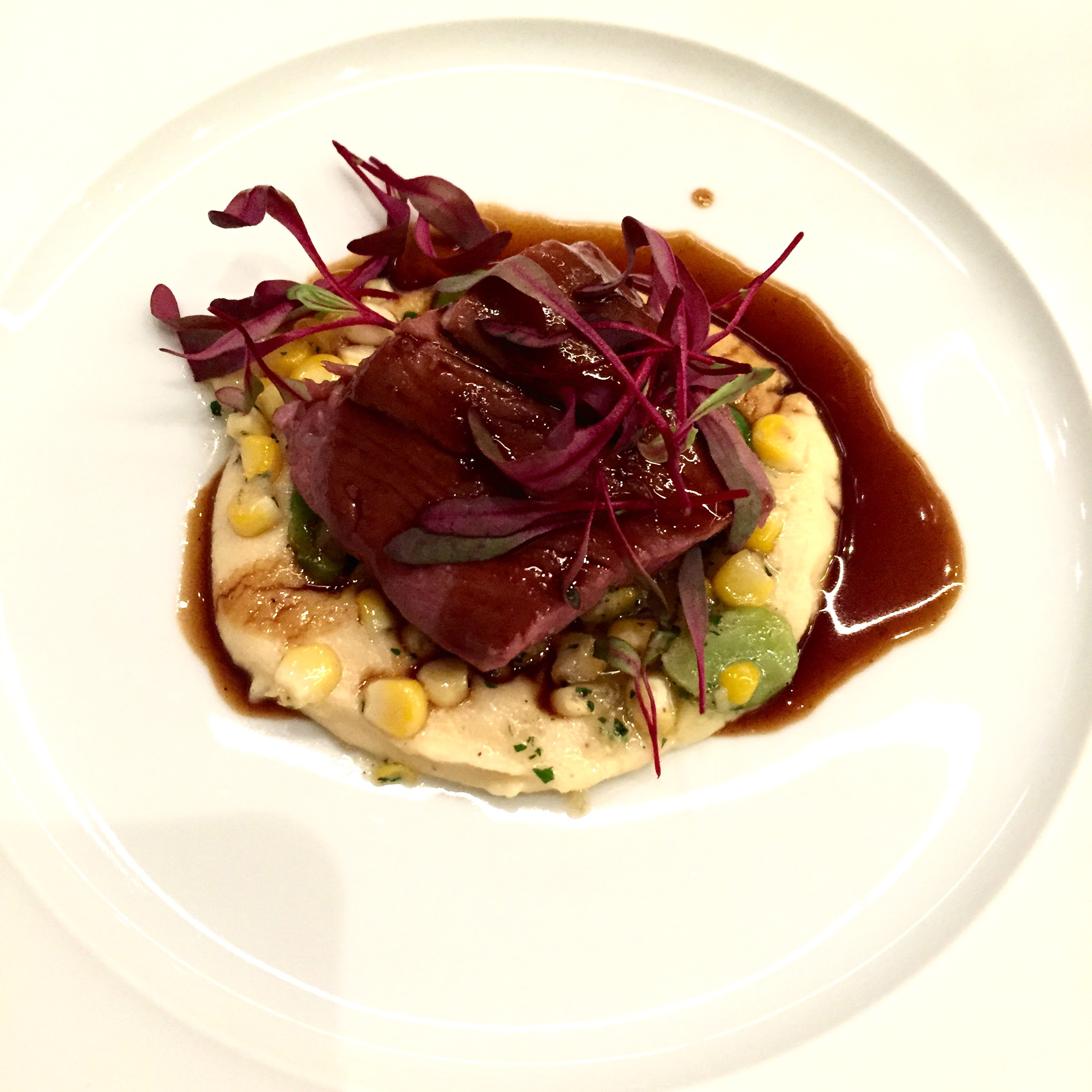 Hartmann's veal tenderloin. And tender it was, pinky flesh that was cooked sous vide and bathing in Hartmann's signature sauce.  Photo: The Vancouverite