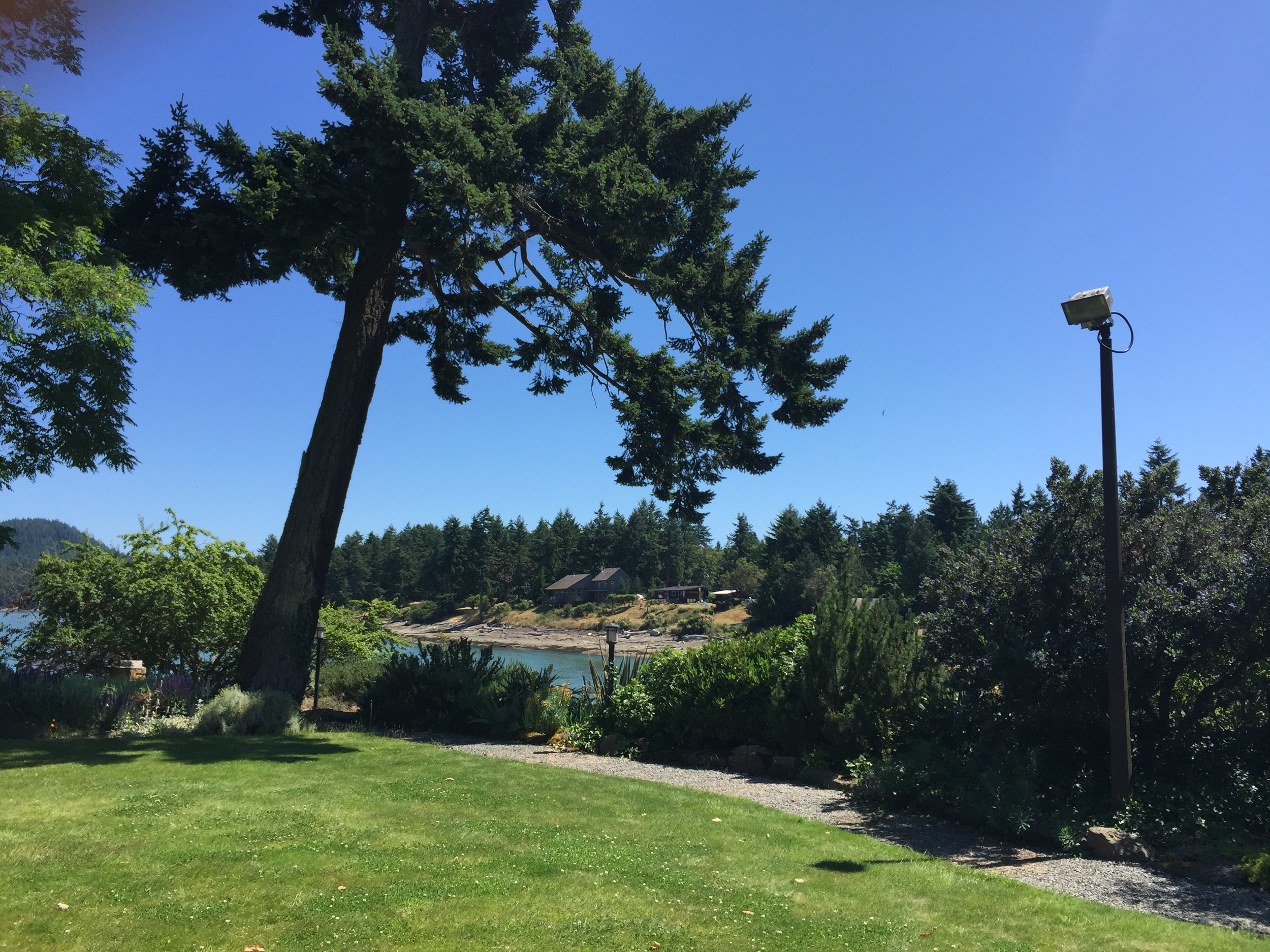 A view off the front lawn of Galiano Inn and Spa.  Photo: The Vancouverite