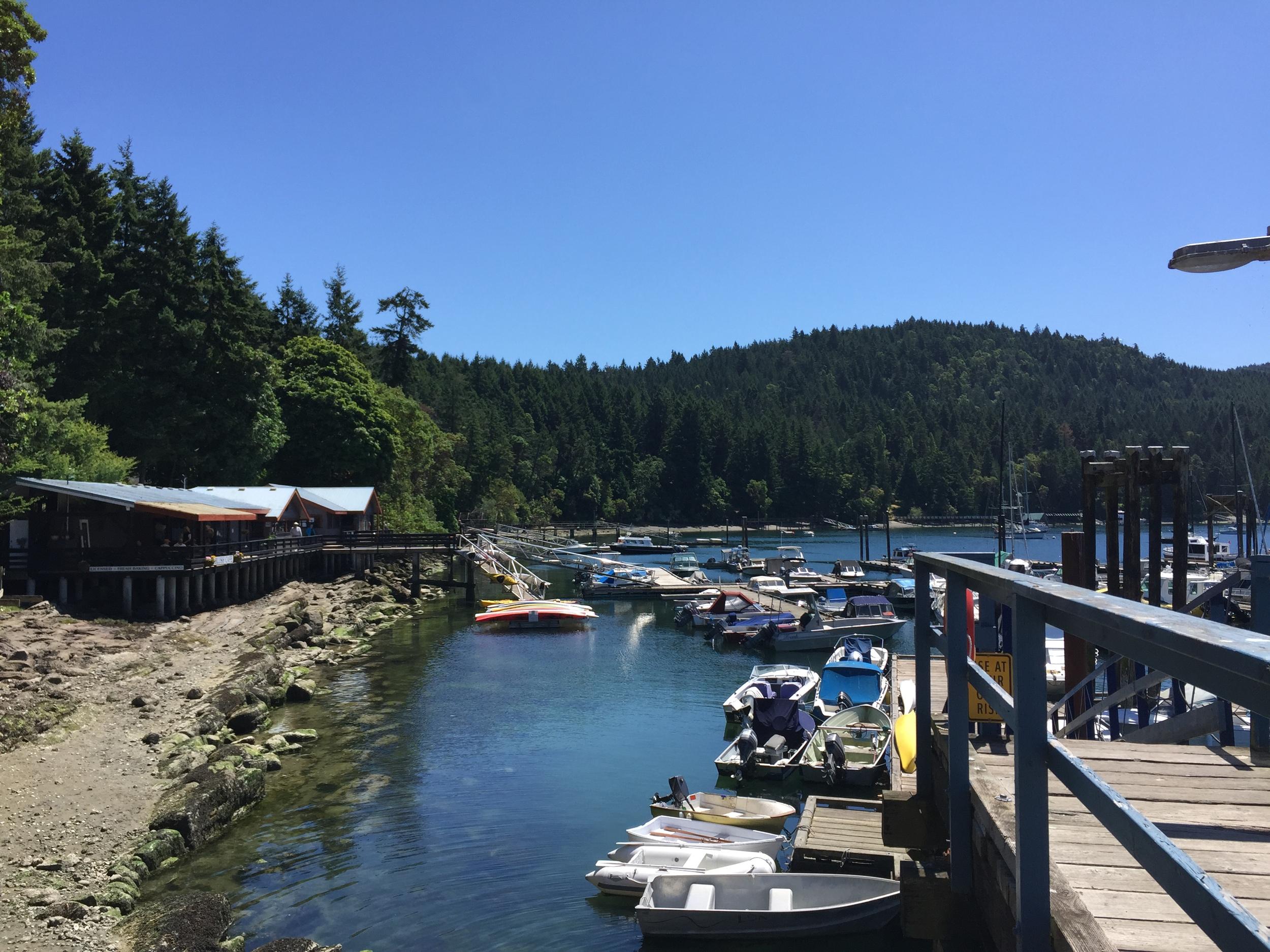 Galiano's Montague Harbour.  Photo: The Vancouverite