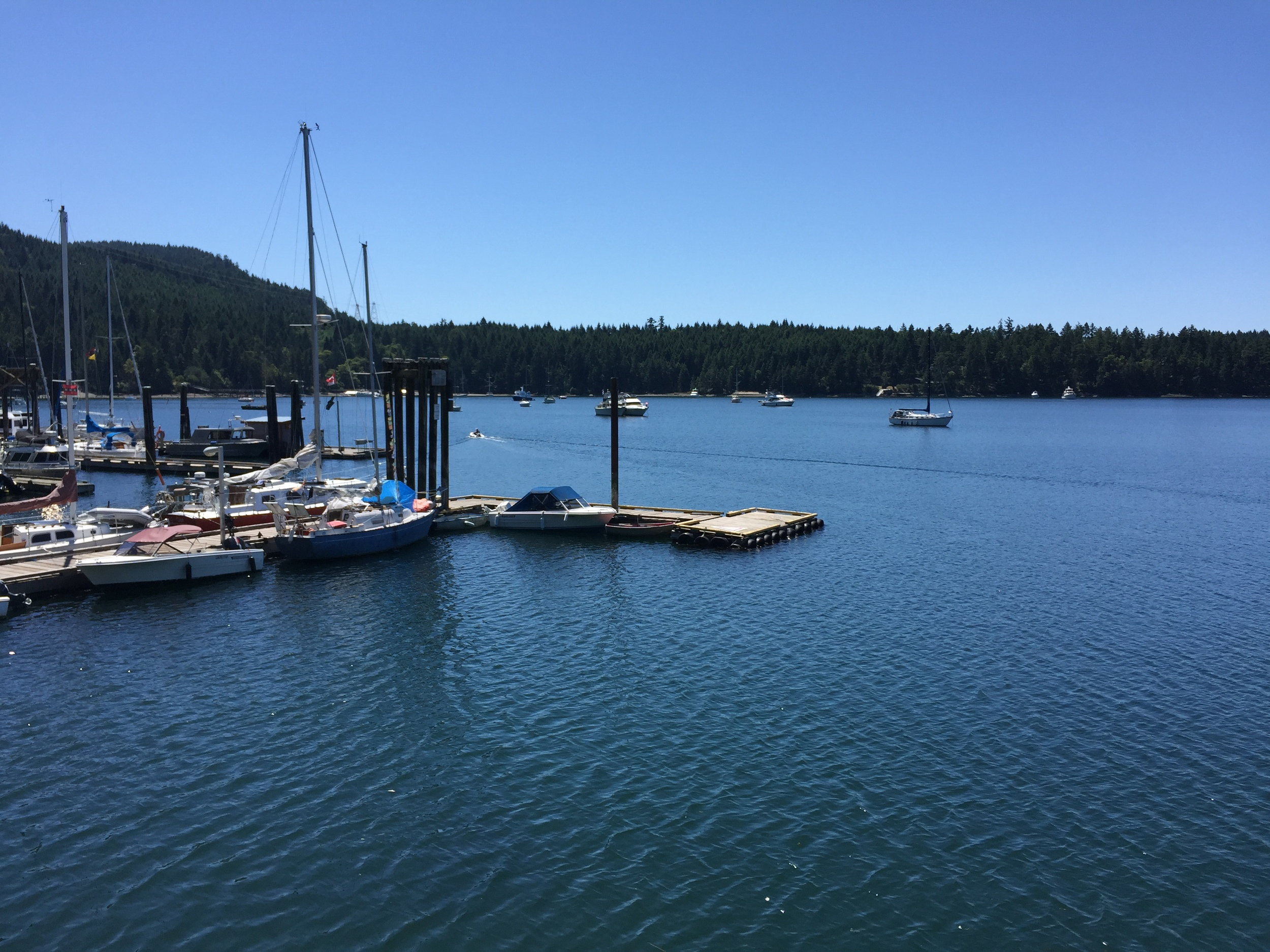 Montague Harbour is very popular with boaters.  Photo: The Vancouverite