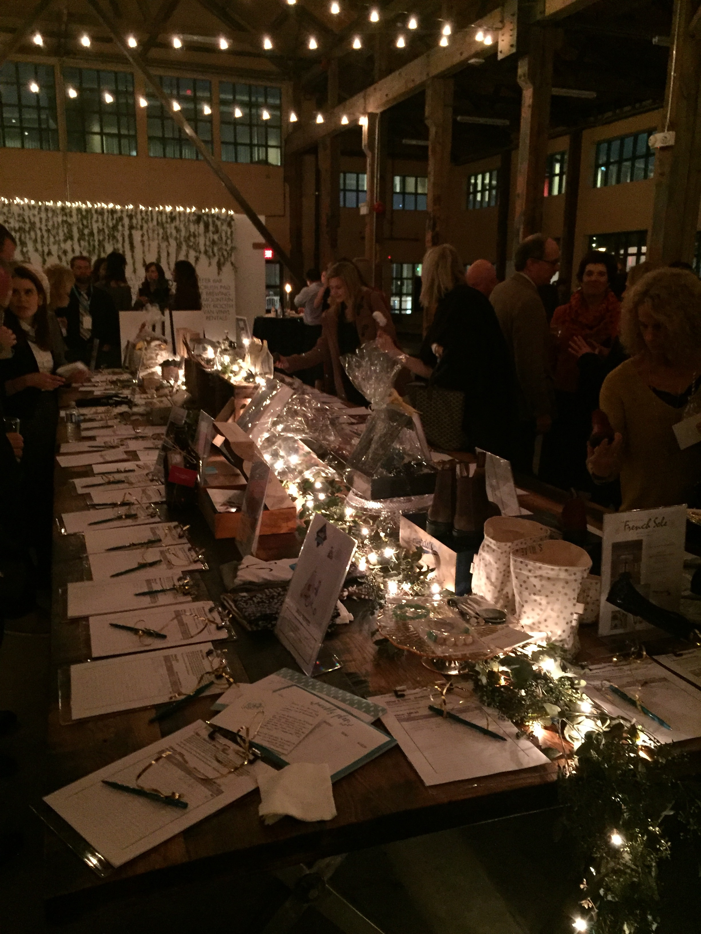 Silent auction for a worthy cause.