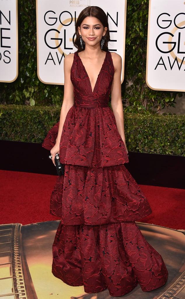 Zendaya wearing Marchesa. Photo: Jordan Strauss/Invision/AP