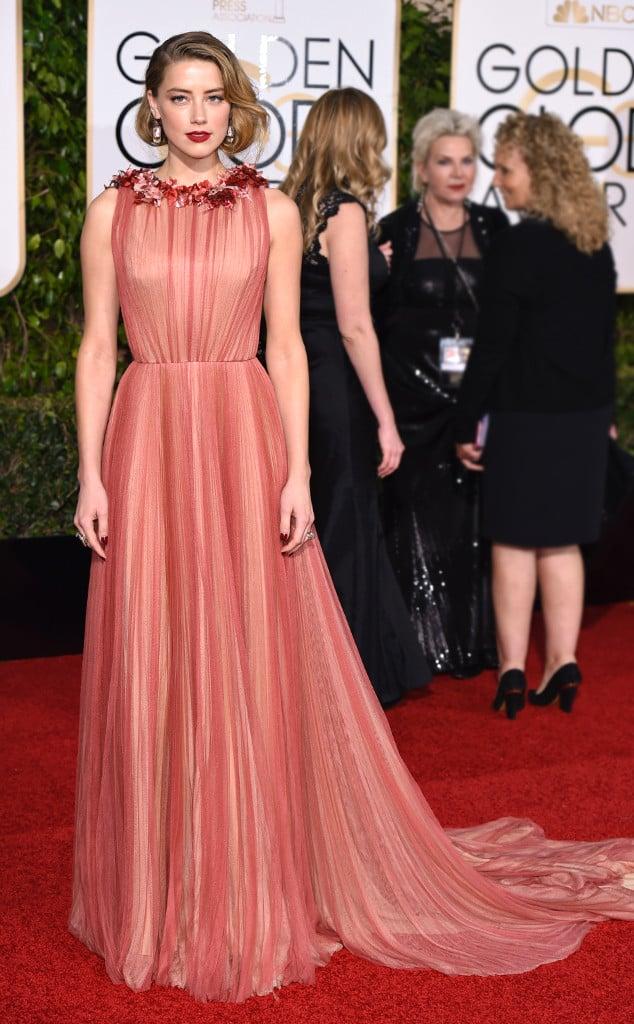 Amber Heard in Gucci. Photo: David Fisher/REX Shutterstock