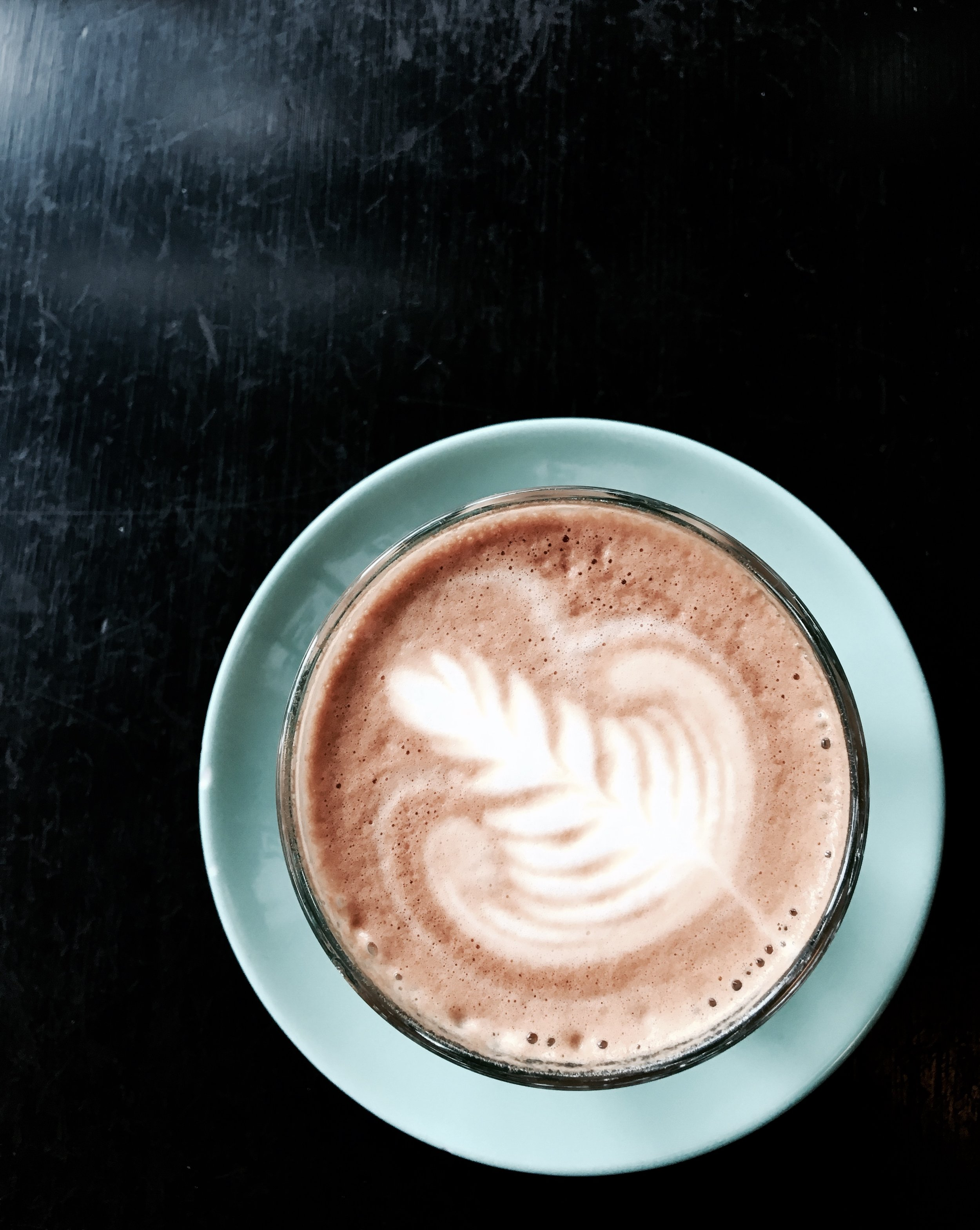 Back to reality with a wonderful cappuccino at Prado Cafe.  Photo: The Vancouverite