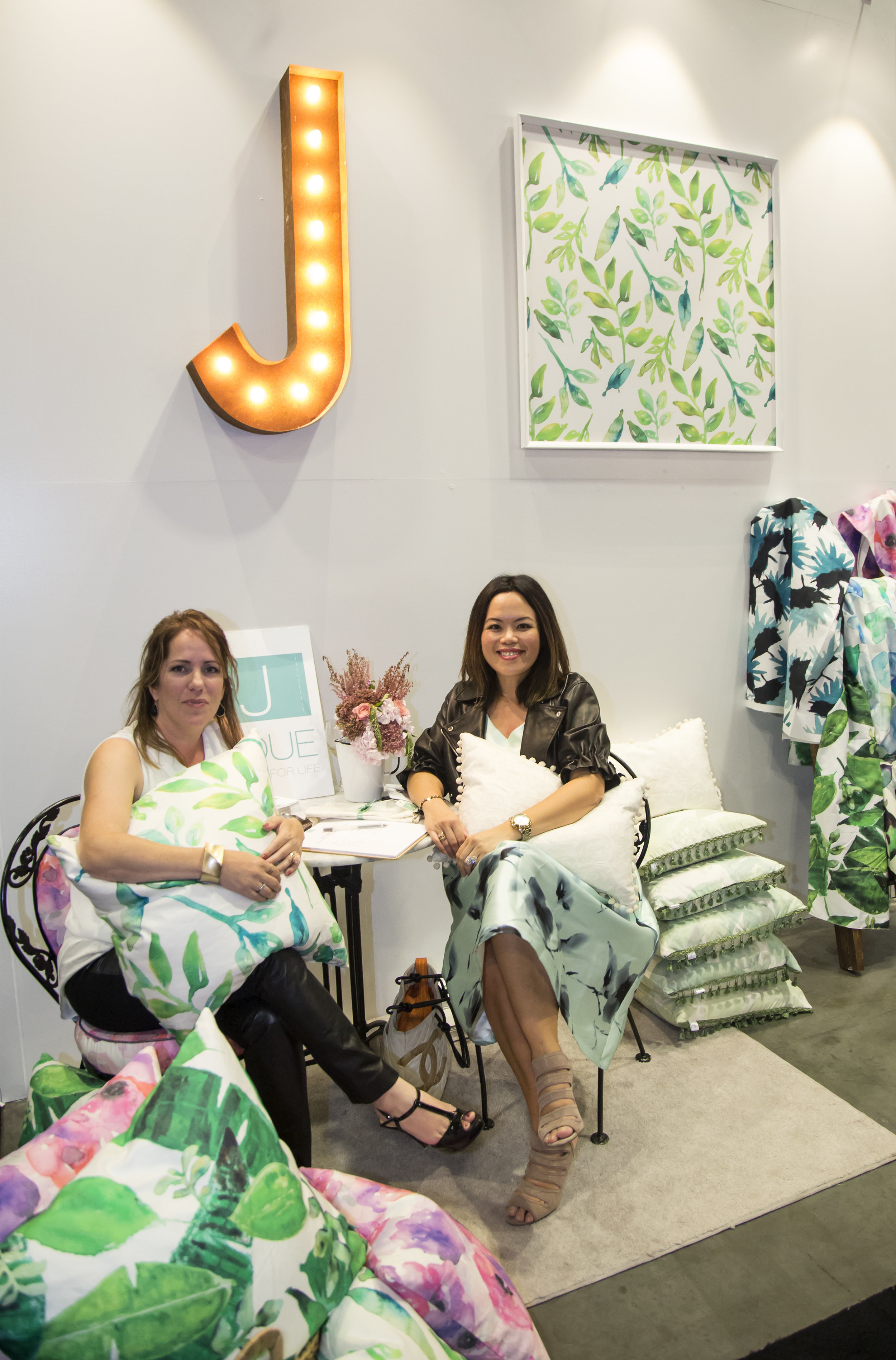 Alison and I in our booth at IDS Vancouver. We had the smallest booth on the show floor but the most colourful one that attracted a lot of attention!  Photo: Airisa Photography
