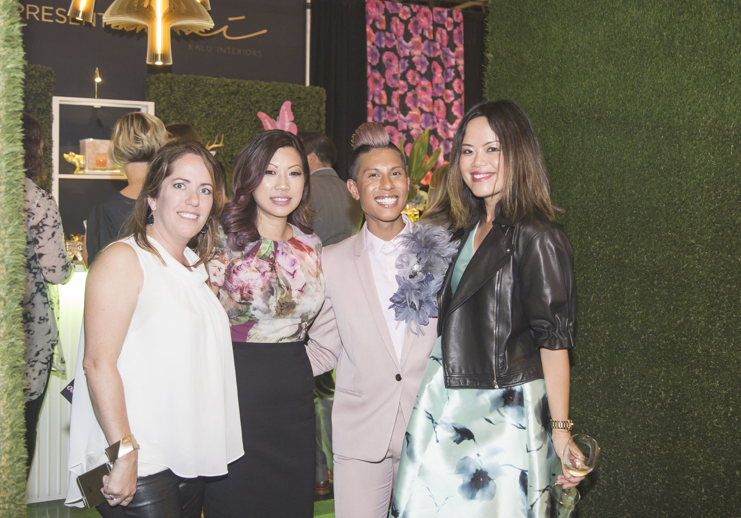 Phyllis Lui (2nd from left) and Aleem Kassam (2nd from right) are the dynamic duo of Kalu Interiors.  Photo: Airisa Photography