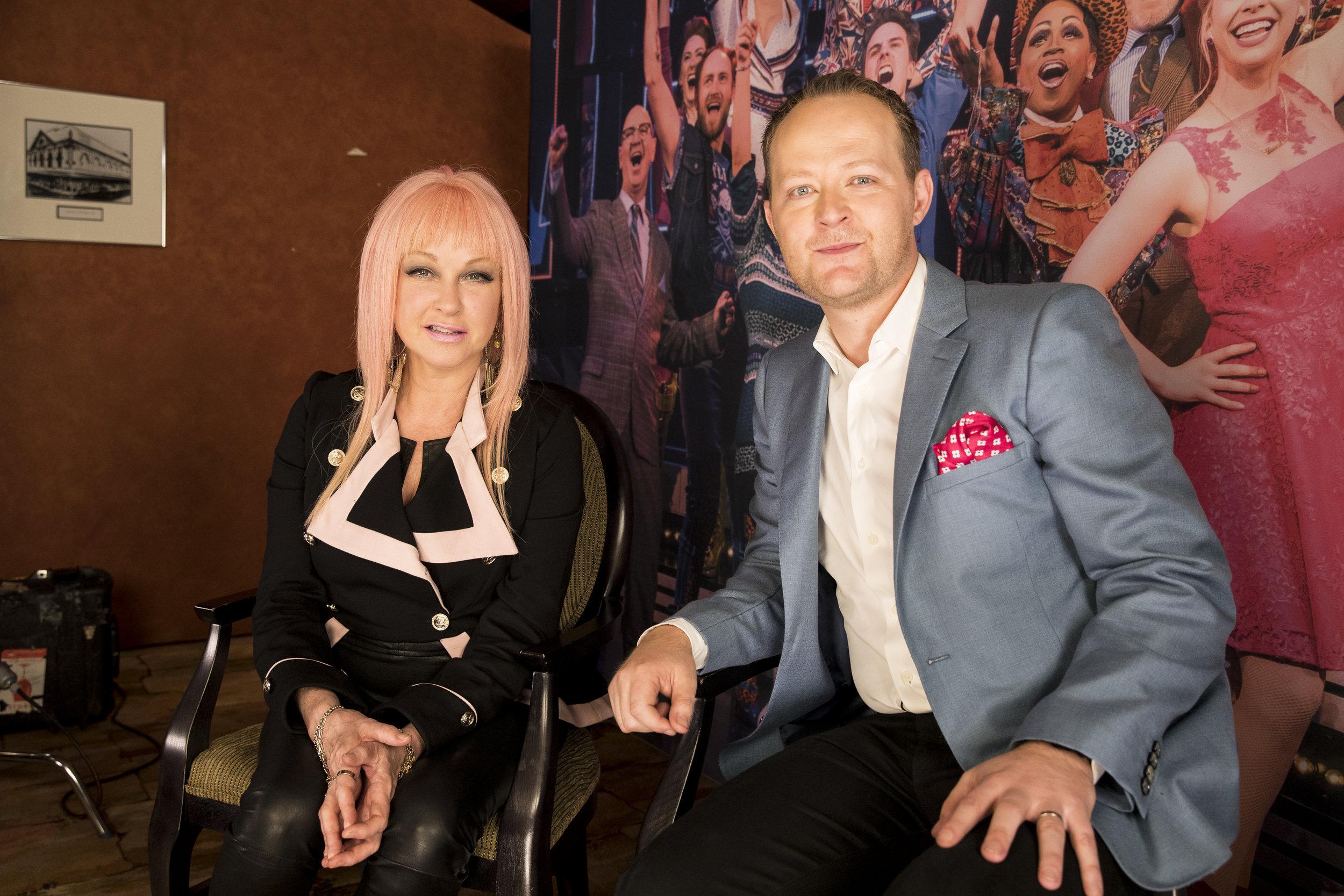 Cyndi Lauper and Michael Cassel