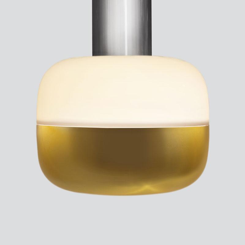 Opal Top/<br>Brass Bottom