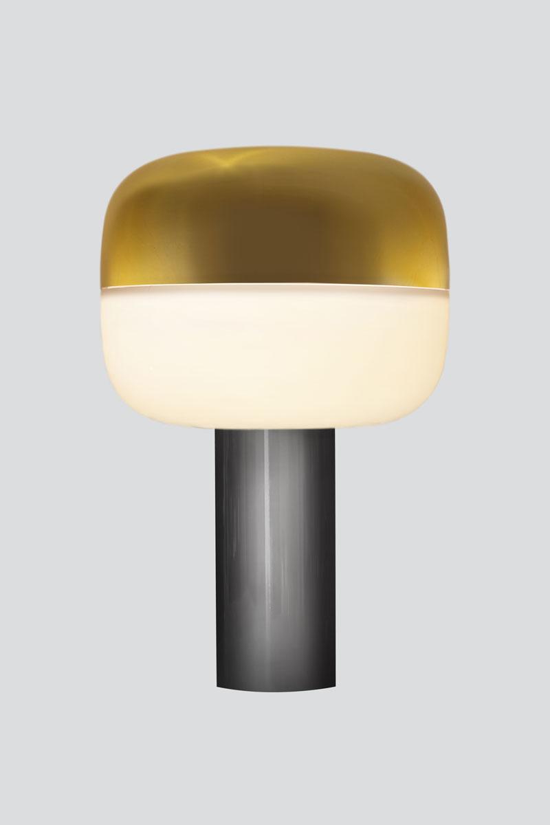 Opal Bottom/<br>Brass Top