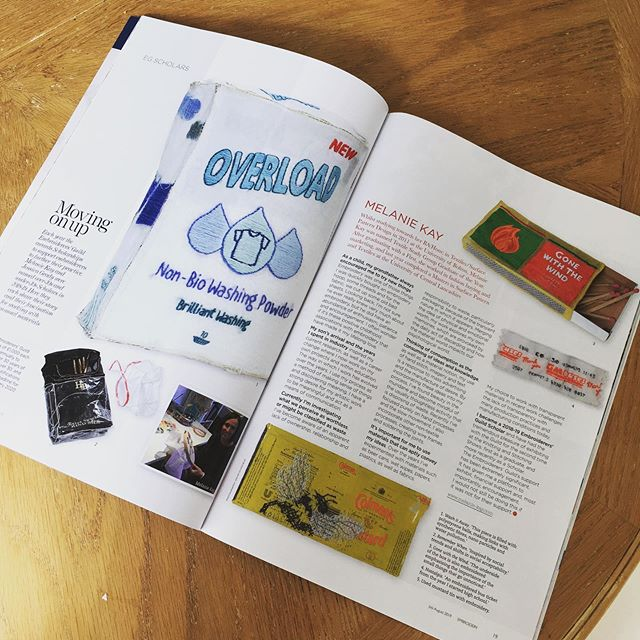 Just received a copy of embroidery magazine and super pleased to have a double page feature 😁  #embroiderymagazine #embroidery #textiles #textileart #handstitch #slowmovement #packaging #MA