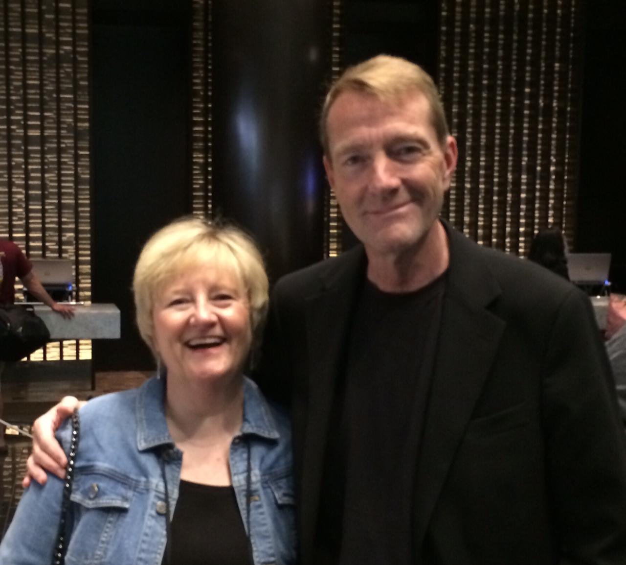 Diane with thriller author legend Lee Child