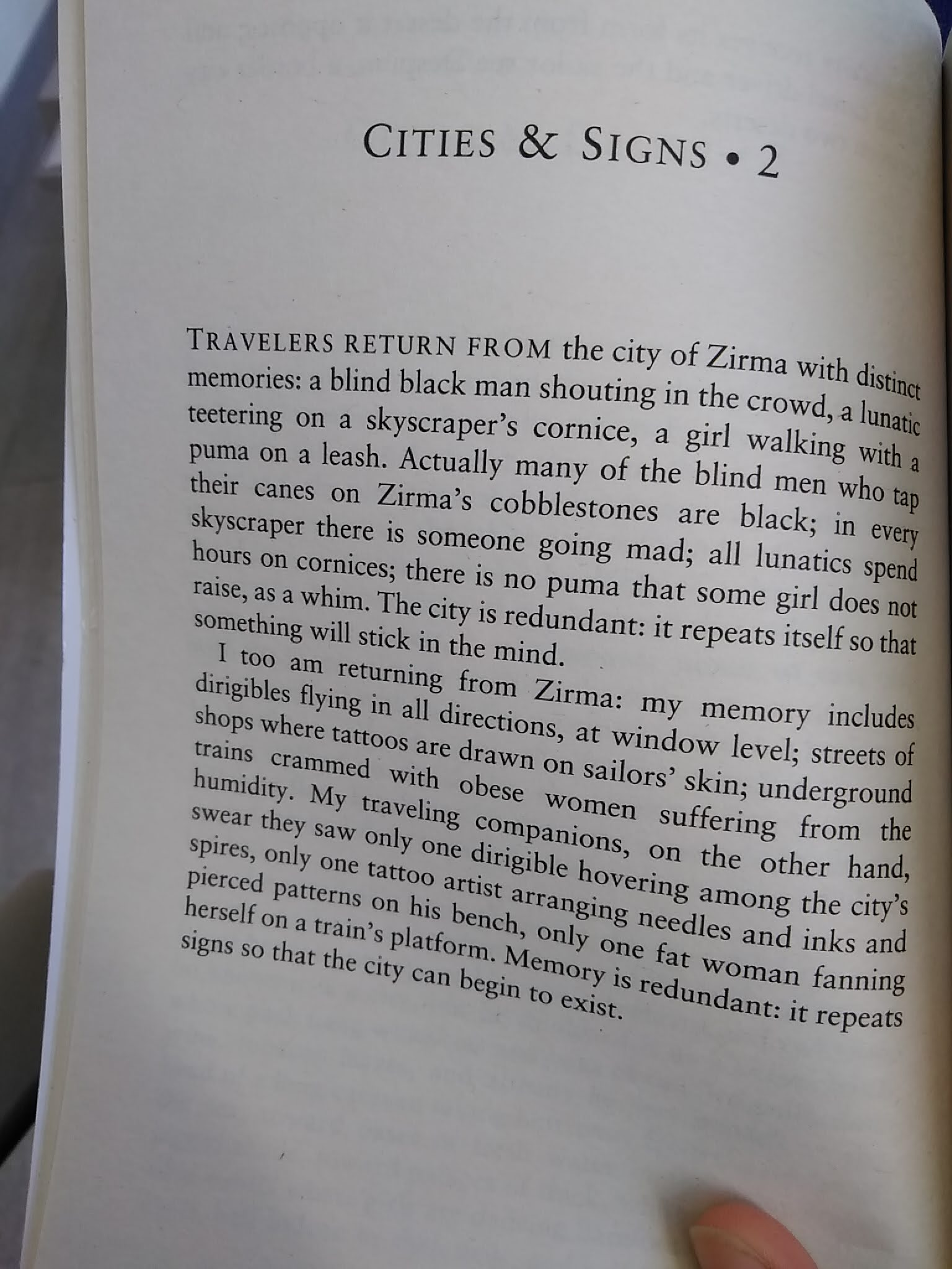 aus Italo Calvinos Invisible Cities