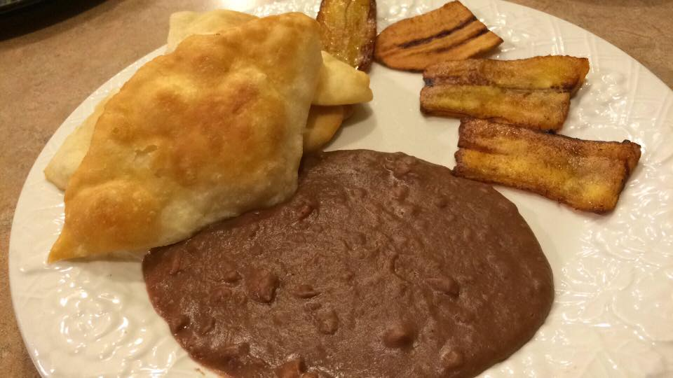 Belizean Style Refried Beans and Fry Jacks with Plantains.jpg