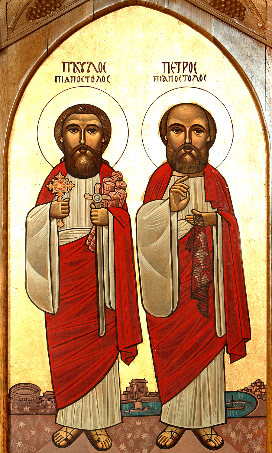 Sts Peter & St Paul (St Paul on the left)