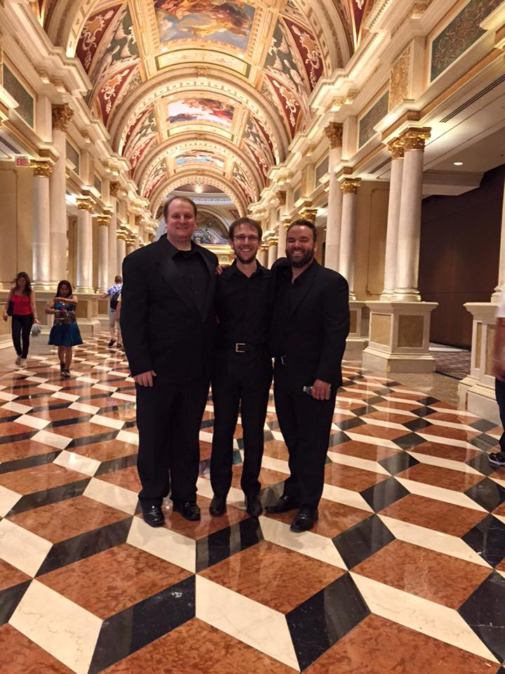 Boston Percussionists Greg Simonds, Ethan Pani, and myselfplaying Zelda with the Video Games Orchestra at the Venetian Theater.